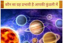 ग्रहों का प्रभाव इन हिंदी